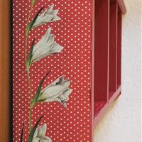 "Hängeregal ""Weiße Blüten"""